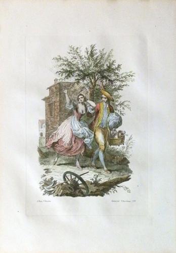 Quadro di  Antiquariato Il caro tempo giovanil - litografia carta