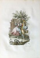 Quadro di  Antiquariato - Il caro tempo giovanil litografia carta