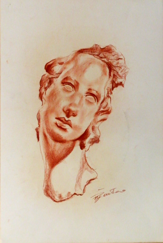 Art work by Luigi Pignataro Testa - blood paper