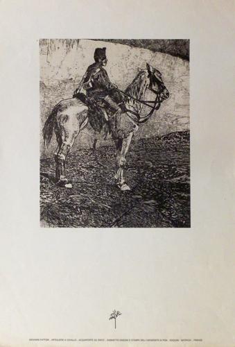 Quadro di Giovanni (Giò) Fattori Artigliere a cavallo - stampa carta
