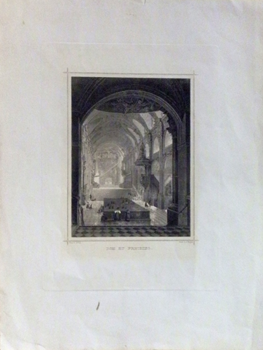 Art work by  Antiquariato Dom du Freising - lithography paper