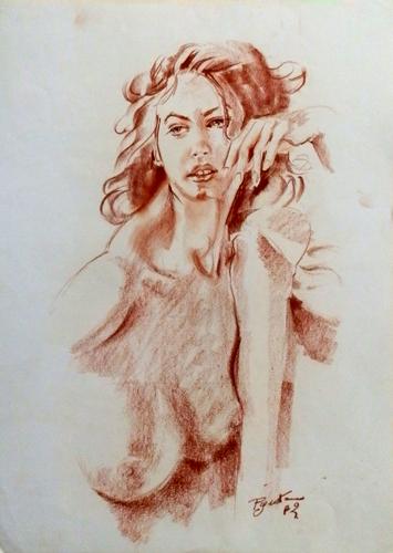 Art work by Luigi Pignataro Nudo - blood paper