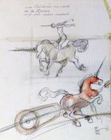 Quadro di Claude Falbriard  Unicorni
