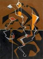 Quadro di A. Dallegno - Astratto mista carta