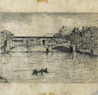 Quadro di  Anonimo - Ponte Vecchio incisione cartone