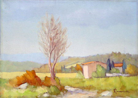 Art work by Renato Cappelli (Renca) Campagna - oil canvas