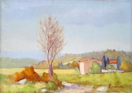 Quadro di Renato Cappelli (Renca) Campagna - olio tela