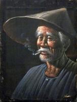 Quadro di  Niran  Uomo orientale