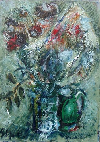 Quadro di Emanuele Cappello Composizione con fiori - olio tela