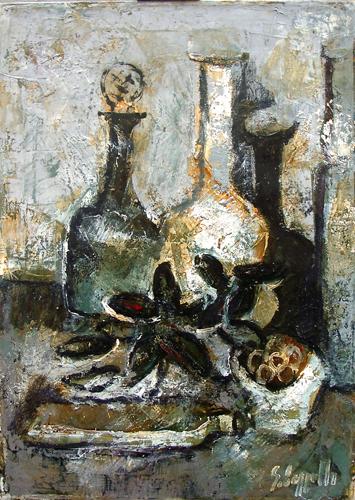 Quadro di Emanuele Cappello Composizione - Pittori contemporanei galleria Firenze Art
