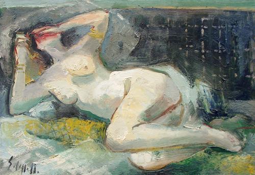 Quadro di Emanuele Cappello Nudo - olio tela
