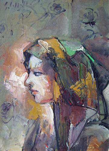 Art work by Emanuele Cappello Figura - oil canvas
