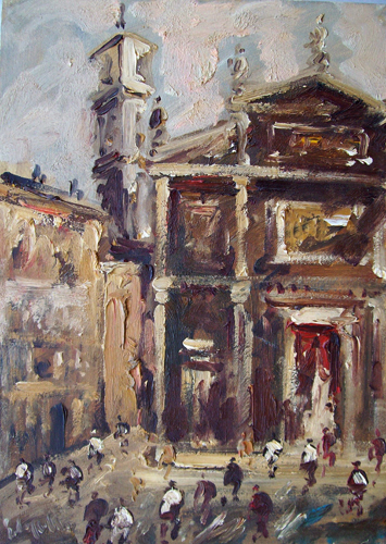 Art work by Emanuele Cappello Cattedrale - oil canvas