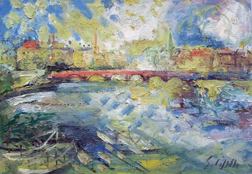 Quadro di Emanuele Cappello La Senna - olio tela