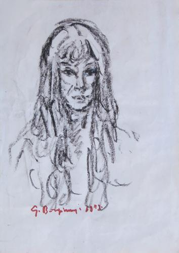Art work by Guido Borgianni Ritratto - charcoal paper