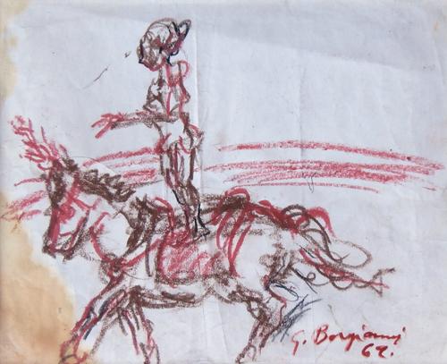 Quadro di Guido Borgianni Equilibrista - pastello carta