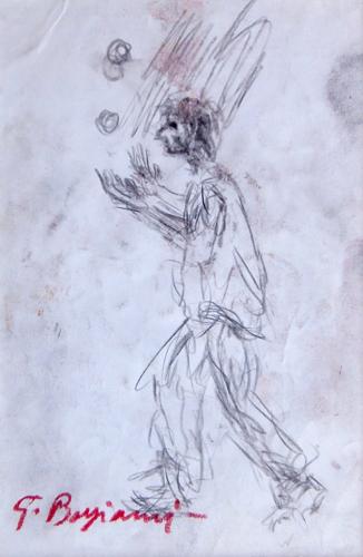 Art work by Guido Borgianni Il giocoliere - lapis paper