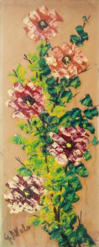 Quadro di Giorgio Di Volo Fiori - olio cartone