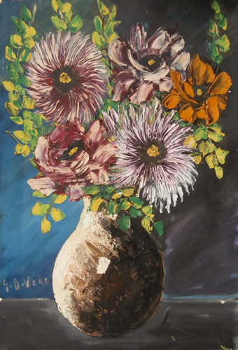 Art work by Giorgio Di Volo Fiori - oil table