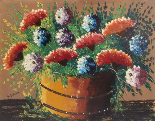 Art work by Giorgio Di Volo Vaso di fiori - oil canvas