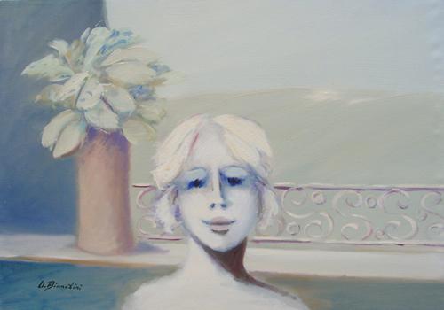 Quadro di Umberto Bianchini Balcone - olio tela