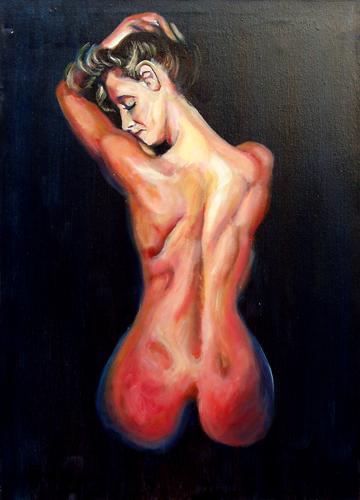 Art work by Luigi Pignataro Nudo - oil canvas