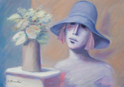 Art work by Umberto Bianchini Rebecca - oil canvas