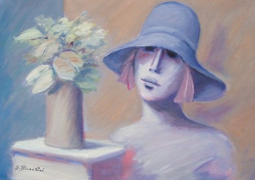 Quadro di Umberto Bianchini Rebecca - olio tela