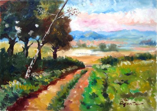 Quadro di Luigi Pignataro Paesaggio - olio tela