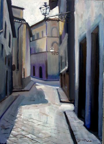 Quadro di Luigi Pignataro Via fiorentina - olio tela