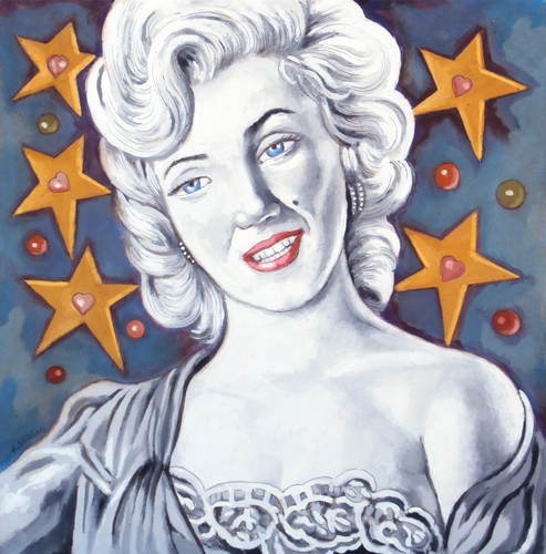 Quadro di Roberto Sguanci Marilyn - Pittori contemporanei galleria Firenze Art