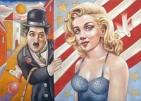 Work of Roberto Sguanci  Marilyn e Charlot