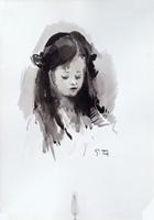 Quadro di Gino Tili  Ritratto di ragazza