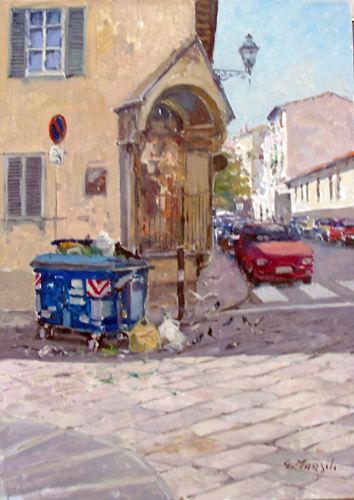Art work by Graziano Marsili Tabernacolo in via San Giuseppe - Firenze - oil canvas