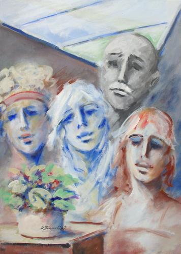 Quadro di Umberto Bianchini Le nipotine - Pittori contemporanei galleria Firenze Art
