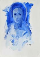 Work of Gino Tili - Ritratto varnish paper