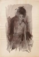 Quadro di Gino Tili  Ragazza con il tulle