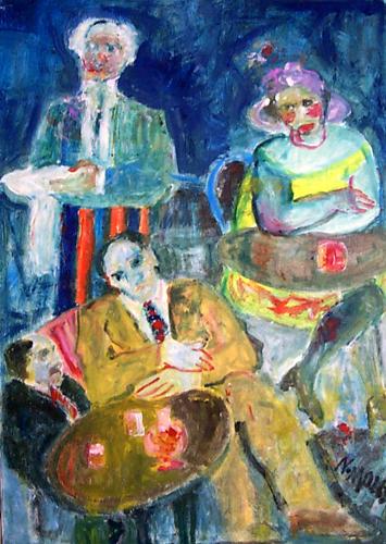 Art work by Nadia Monti Spettatori - oil canvas