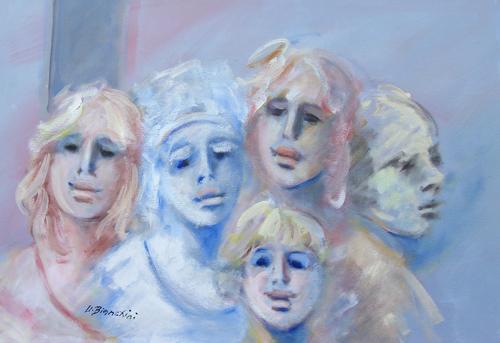 Art work by Umberto Bianchini Insieme - mixed canvas
