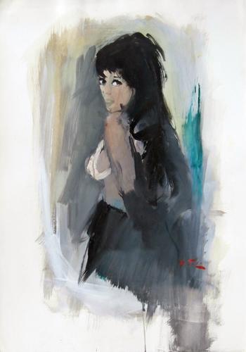 Quadro di Gino Tili Posa - acquerello carta