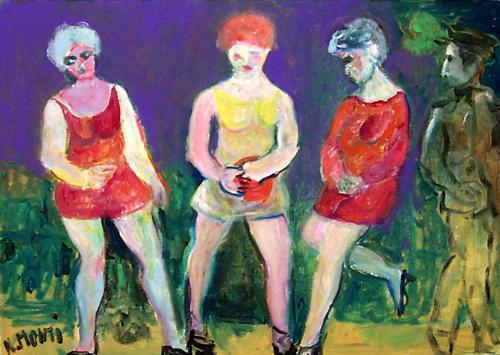 Quadro di Nadia Monti In attesa - olio tela