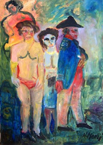 Quadro di Nadia Monti Figure - olio tela