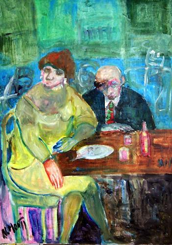 Quadro di Nadia Monti Cena - olio tela