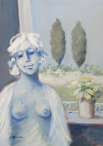 Quadro di Umberto Bianchini Balcone, mista su tela 70 x 50 | FirenzeArt Galleria d'arte