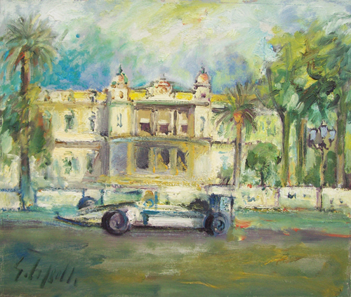 Art work by Emanuele Cappello Gran Premio di Montecarlo - oil canvas