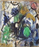Quadro di  Kapel (Cappello) - Paesaggio mista tela di juta