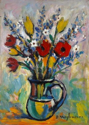 Quadro di Dino Migliorini Vaso di fiori - Pittori contemporanei galleria Firenze Art
