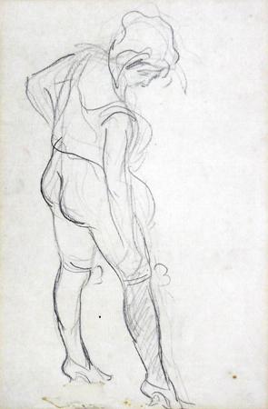 Quadro di Renato Natali Figura di donna - matita carta