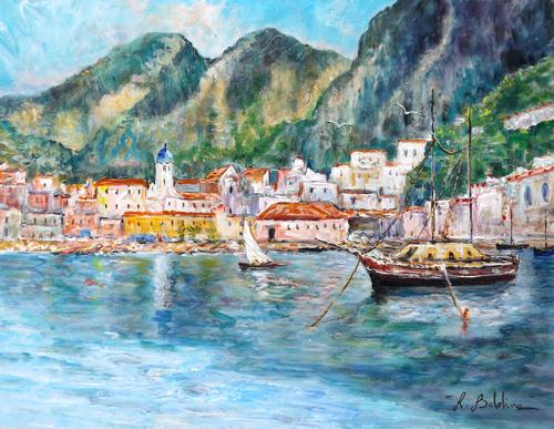 Quadro di Rossella Baldino Marina di Amalfi - olio tavola