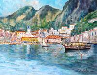 Quadro di Rossella Baldino - Marina di Amalfi olio tavola